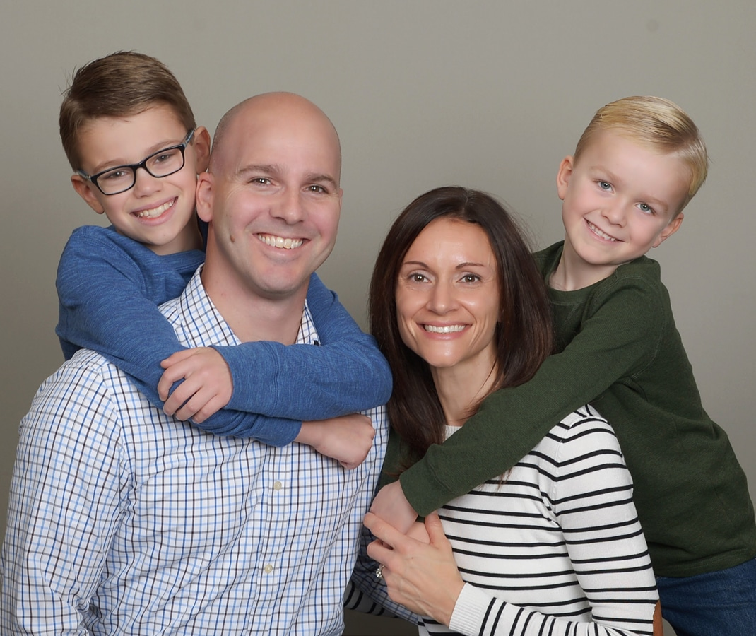 Chiropractor Brian Foley and Family